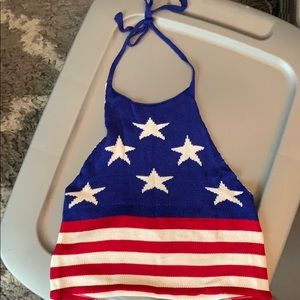 Stars and Stripes crop top
